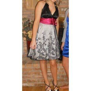 Black, Pink & Silver Macy's Dress